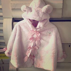 Other - Vintage pink fur coat with pink satin liner.